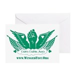 Winged Fist Greeting Card