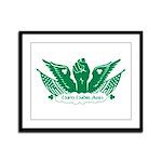 Winged Fist Framed Panel Print