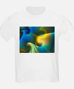 """Luminous 3"" Fractal Art Kids T-Shirt"