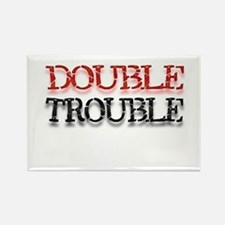 Double Trouble Rectangle Magnet