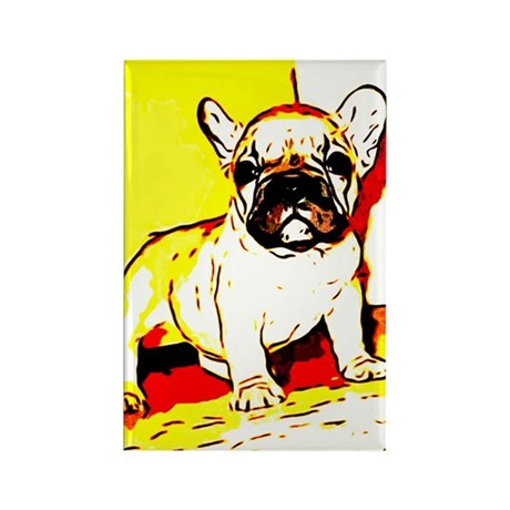 French Bulldog Art Rectangle Magnet