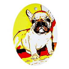 French Bulldog Art Oval Ornament