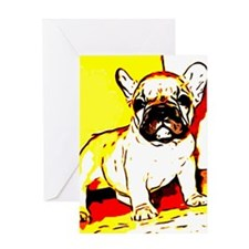 French Bulldog Art Greeting Card