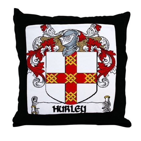 Hurley Coat of Arms Throw Pillow