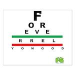 FROG eyechart Small Poster