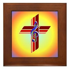 Clef and Cross Framed Tile