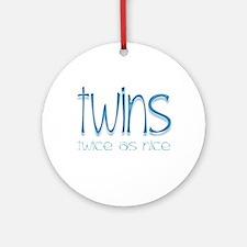 Twins - Twice as Nice Keepsake (Round)