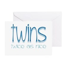 Twins - Twice as Nice Greeting Cards (Pk of 10