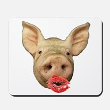pigs with lipstick Mousepad