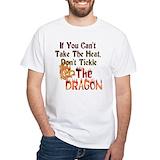 Dragon Mens White T-shirts