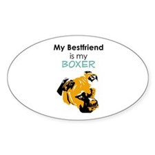 Best Friend Boxer Oval Decal