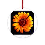 Yellow Daisy Fine Art Ornament (Round)