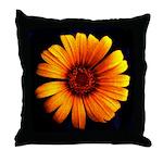 Yellow Daisy Fine Art Throw Pillow