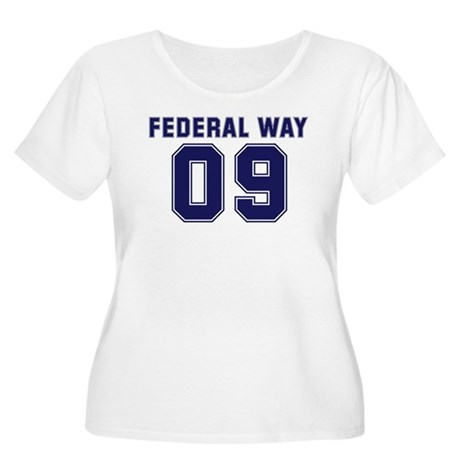 FEDERAL WAY 09 Women's Plus Size Scoop Neck T-Shir