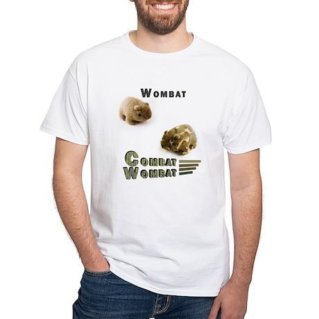 combat wombat_white T-Shirt