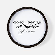 """good sense of humor"" Wall Clock"