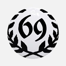 69 Laurel Ornament (Round)