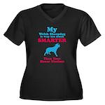 Welsh Sheepdog Women's Plus Size V-Neck Dark T-Shi