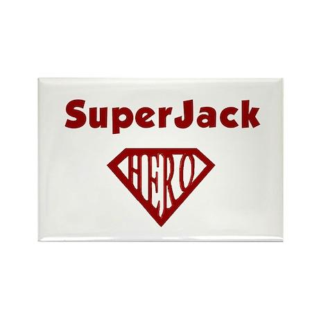 Super Hero Jack Rectangle Magnet