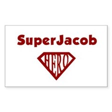 Super Hero Jacob Rectangle Decal