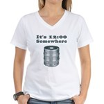 It's 12:00 Somewhere Women's V-Neck T-Shirt