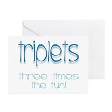 IVF Triplets Greeting Cards (Pk of 10)