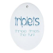 IVF Triplets Keepsake (Oval)