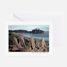 Japanese fishing nets drying Greeting Cards