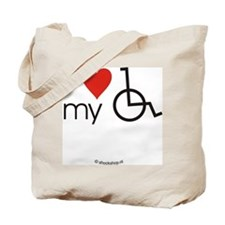 I love my wheelchair Tote Bag