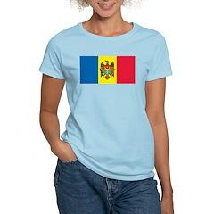 Moldova Flag Women's Pink T-Shirt