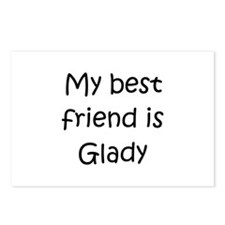 Funny My best friend Postcards (Package of 8)