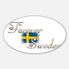 Forever Sweden - Oval Decal