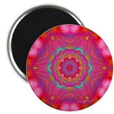 "Pink Crystal Mandala 2.25"" Magnet (10 pack)"