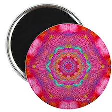 "Pink Crystal Mandala 2.25"" Magnet (100 pack)"