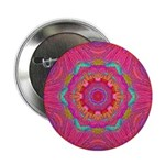 "Pink Crystal Mandala 2.25"" Button (100 pack)"