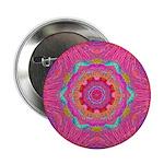 Pink Crystal Mandala Button