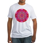 Pink Crystal Mandala Fitted T-Shirt