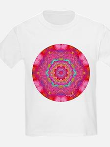 Pink Crystal Mandala Kids T-Shirt