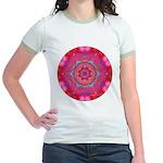 Pink Crystal Mandala Jr. Ringer T-Shirt