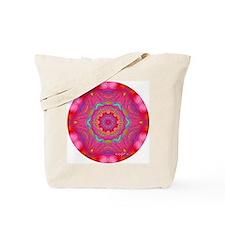 Pink Crystal Mandala Tote Bag