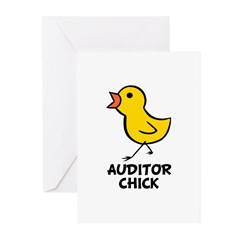 Auditor Chick Greeting Cards (Pk of 20)