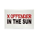 X OFFENDER In The SUN Rectangle Magnet (100 pack)