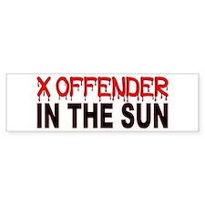 X OFFENDER In The SUN Car Sticker