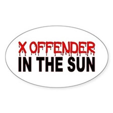 X OFFENDER In The SUN Decal