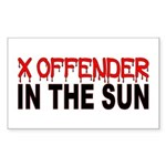 X OFFENDER In The SUN Sticker (Rectangle)