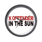 X OFFENDER In The SUN Wall Clock