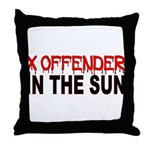 X OFFENDER In The SUN Throw Pillow