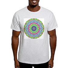 Pastel Mandala Ash Grey T-Shirt