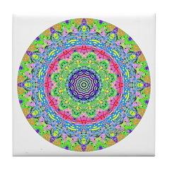 Pastel Mandala Tile Coaster