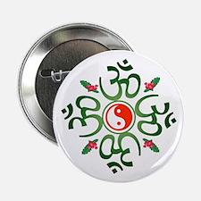 """Zen Christmas Wreath 2.25"""" Button"""